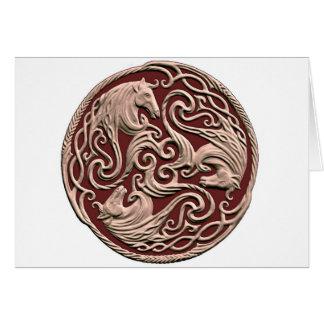 Keltischer Pferdeknoten Grußkarte