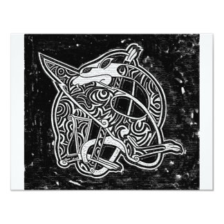 Keltischer Stammes- Drache 10,8 X 14 Cm Einladungskarte