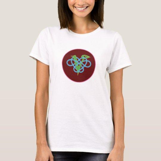Keltischer veganer Polyamory Kreis T-Shirt
