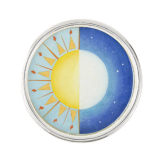 Keltisches Äquinoktikum-Revers-Button Pin