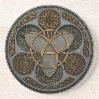 Keltisches Dreiheits-Schild Getränkeuntersetzer