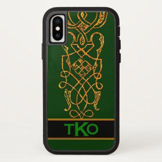 Keltisches Goldirischer grüner iPhone X Hülle