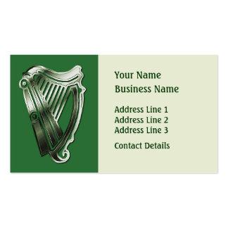 Keltisches Harfen-Musik-Thema-Lesezeichen oder Ges Visitenkartenvorlage
