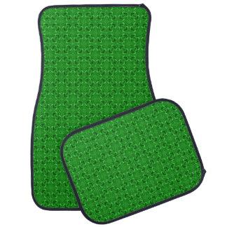 Keltisches Klee-Grün-Kaleidoskop-Auto-Matten-Set Autofußmatte