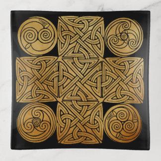 Keltisches Knüpfarbeit-Kreuz Dekoschale