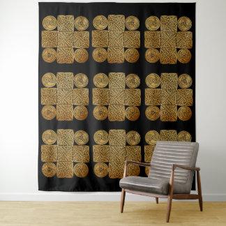 Keltisches Knüpfarbeit-Kreuz Wandteppich