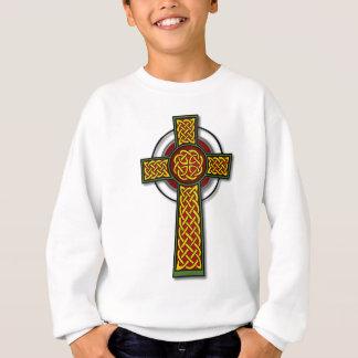 Keltisches Kreuz (lang, Farbe) Sweatshirt