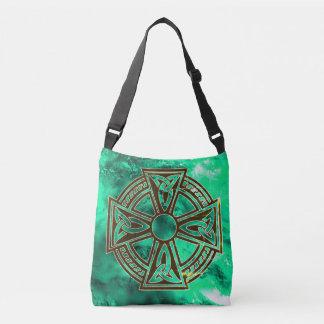 Keltisches Kreuz-Taschen-Tasche Tragetaschen Mit Langen Trägern