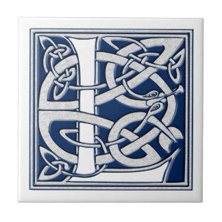 Keltisches L Monogramm Keramikfliese