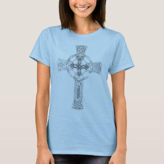 """Keltisches Suche-""""Kreuz-"""" Baby - Puppe T - Shirt"""