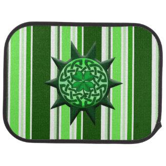 keltisches Symbol 1 des Klees mit 4 Blättern Autofußmatte