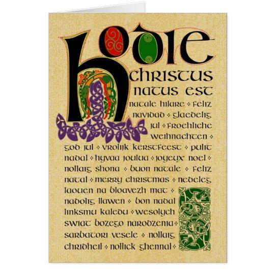 Keltisches Weihnachtsmanuskript Grußkarte