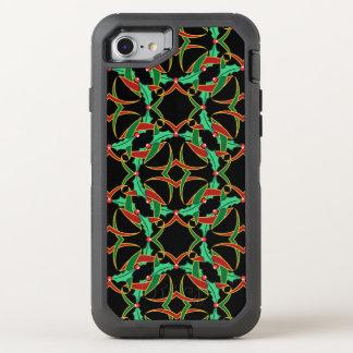 Keltisches Weihnachtsstechpalmen-Kranz-Muster OtterBox Defender iPhone 8/7 Hülle
