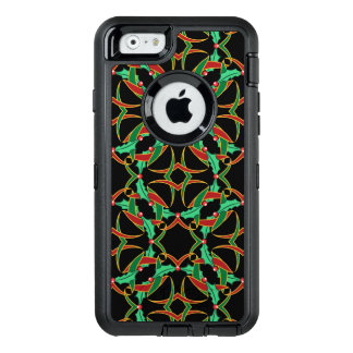 Keltisches Weihnachtsstechpalmen-Kranz-Muster OtterBox iPhone 6/6s Hülle
