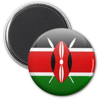 Kenia-Flagge Runder Magnet 5,7 Cm