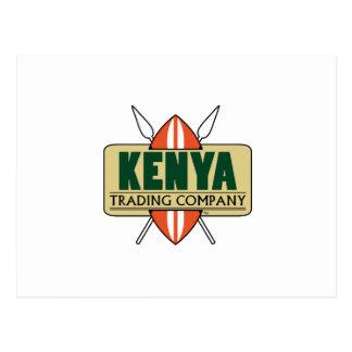KENIA-Handelsgesellschaftlogo Postkarte