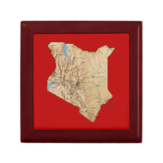 Kenia-Karten-Geschenkboxen Schmuckschachtel