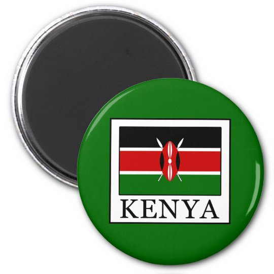 Kenia Runder Magnet 5,7 Cm
