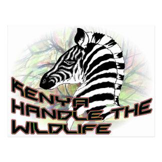 Kenia Wildlife2 Postkarte