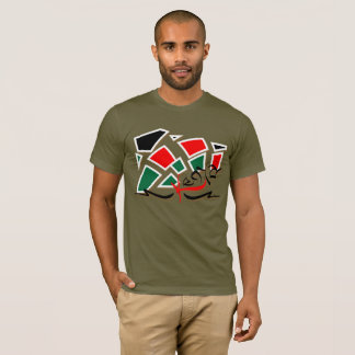 Kenia - zerstreute Farben T-Shirt