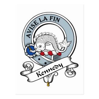 Kennedy-Clan-Abzeichen Postkarte