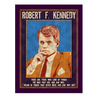 """Kennedy, Robert - """"warum nicht? """" Postkarte"""