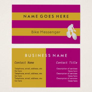 """""""Kennzeichnet"""" Fahrrad-Bote-Visitenkarten Visitenkarte"""