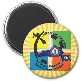 KENTUCKY-STAATS-MOTTO GEOCACHER RUNDER MAGNET 5,7 CM