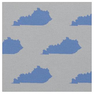 Kentucky-Staats-Muster-Blau auf Grau Stoff