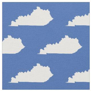 Kentucky-Staats-Muster-Weiß auf Blau Stoff