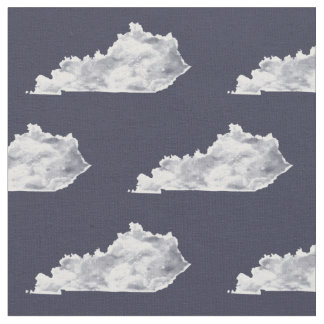 Kentucky-Staats-Muster-WeißWatercolor Stoff