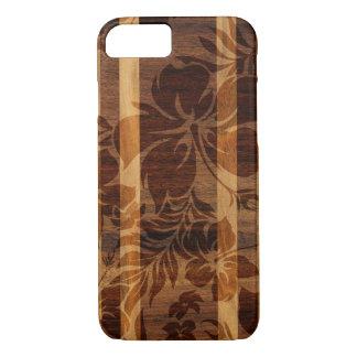Keokea Strand-Imitat-Holz-Surfbrett iPhone 7 Hülle