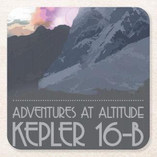 Kepler 16 b-Raum-Untersetzer Rechteckiger Pappuntersetzer