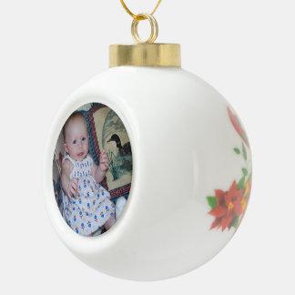 Keramik-Ball-Verzierung addieren Ihr Foto Keramik Kugel-Ornament