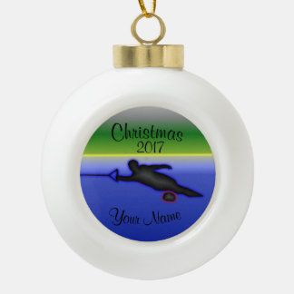 Keramik-Ball-Wasser-Ski-Weihnachtsverzierung Keramik Kugel-Ornament