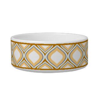 Keramik-Hundeschüssel Karamell-Browns Ogee kleine Napf