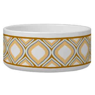 Keramik-Hundeschüssel Karamell-Browns Ogee Napf
