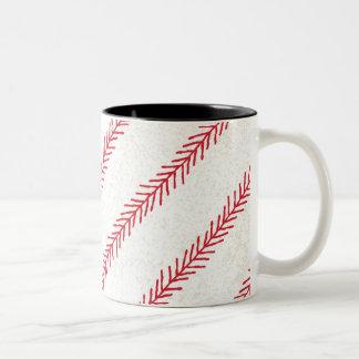 Keramik-Tasse des Baseball-Stich-11oz Zweifarbige Tasse
