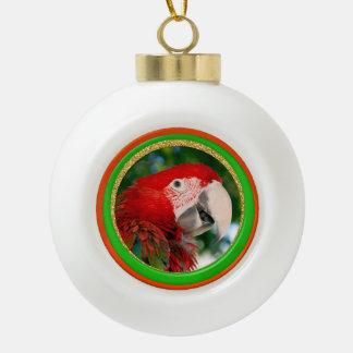 Keramik-Weihnachtspapageien-Foto-Verzierung Keramik Kugel-Ornament