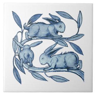Keramiken Williams De Morgan Rabbits Große Quadratische Fliese