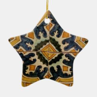 Keramikfliesen-Gelbstern des Ottoman türkischer Keramik Stern-Ornament