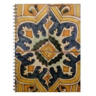 Keramikfliesen-Gelbstern des Ottoman türkischer Notizblock