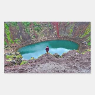 Kerid Krater, Island Rechteckiger Aufkleber