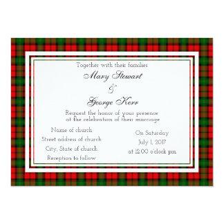 Kerr schottische Hochzeits-Einladung Karte