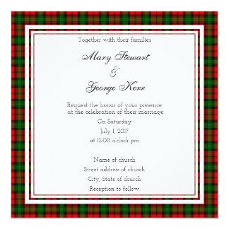 Kerr schottische Hochzeits-Quadrat-Einladung Karte