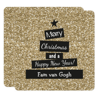 Kerst Glitter en Glamour Karte