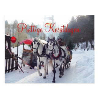 Kerstkaart Prettige Kerstdagen Postkarte