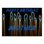 Kerzen alles- Gute zum Geburtstagbruder-Karten-
