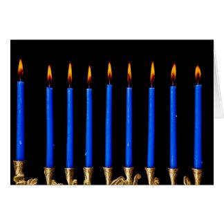Kerzen Chanukkas Chanukah Hanukah Hannukah Menorah Karte