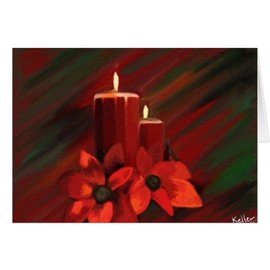 Kerzen-Feiertags-Karte Grußkarte